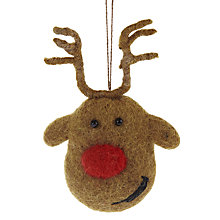 Buy Felt So Good Rudolph Head Decoration Online at johnlewis.com