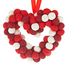 Buy Felt So Good Heart Wreath Online at johnlewis.com