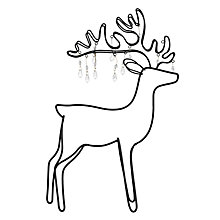 Buy John Lewis Croft Collection Beaded Metal Deer Online at johnlewis.com
