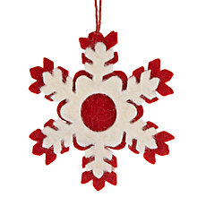 Buy Felt So Good Snowflake Decoration Online at johnlewis.com