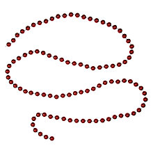 Buy John Lewis Bead Garland, 9ft, Red Online at johnlewis.com