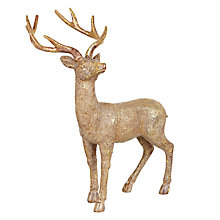 Buy John Lewis Gold Glitter Tabletop Stag Online at johnlewis.com