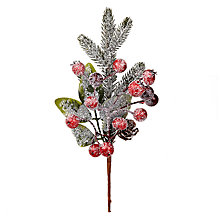 Buy John Lewis Berry and Pine Cone Pick, Red Online at johnlewis.com