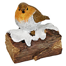 Buy John Lewis Chirping Robin Christmas Decoration Online at johnlewis.com