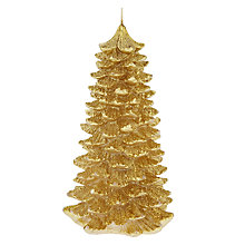 Buy John Lewis Vintage Tree 20cm Candle, Gold Online at johnlewis.com
