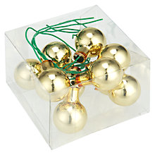 Buy John Lewis Mini Bauble Cluster, Gold Online at johnlewis.com