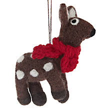 Buy Felt So Good Deer With Scarf Decoration Online at johnlewis.com