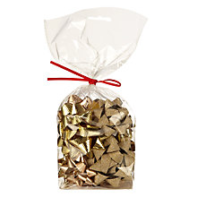 Buy John Lewis Gift Wrap Bows, Pack of 12, Gold Online at johnlewis.com