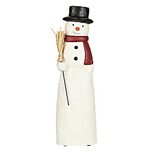 Buy John Lewis Paper Mache Snowman Online at johnlewis.com