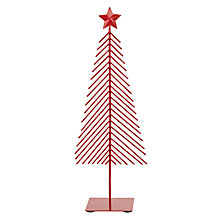 Buy John Lewis Metal Christmas Tree, Red Online at johnlewis.com