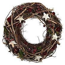 Buy John Lewis Wicker and Moss Wreath Online at johnlewis.com
