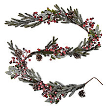 Buy John Lewis Frost Berry and Pinecone Garland, 6ft Online at johnlewis.com