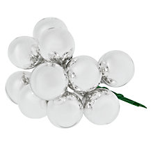 Buy John Lewis Mini Bauble Cluster, Silver Online at johnlewis.com