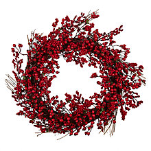 Buy John Lewis Christmas Past Berry Wreath, Red Online at johnlewis.com