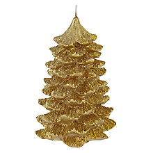 Buy John Lewis Vibrant Vintage Christmas Tree Candle, Gold Online at johnlewis.com