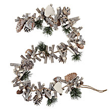 Buy John Lewis Croft Collection Washed Pinecone Garland, 3ft Online at johnlewis.com