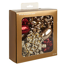 Buy John Lewis Wrap Accessories Box, Red / Gold Online at johnlewis.com