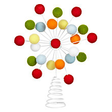 Buy John Lewis Pom Pom Tree Topper Online at johnlewis.com