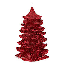 Buy John Lewis Christmas Tree Candle, Red Online at johnlewis.com