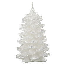 Buy John Lewis Croft Collection Tree Candle, 13cm, White Online at johnlewis.com