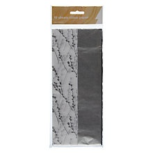 Buy John Lewis Catkin Tissue Wrap, Pack of 10, Silver/White Online at johnlewis.com