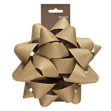 Buy John Lewis Giant Glitter Gift Bow, Gold Online at johnlewis.com