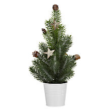 Buy John Lewis Mini Frosted Tabletop Tree Online at johnlewis.com
