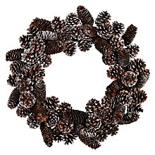 Buy John Lewis Snowy Pine Cone Wreath Online at johnlewis.com
