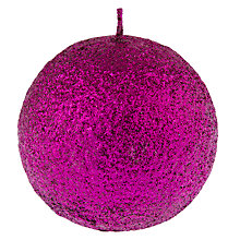 Buy John Lewis Glitter Ball Candle, Pink Online at johnlewis.com