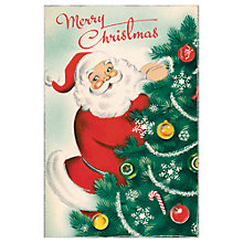 Buy Cavallini Santa Christmas Cards, Box of 10 Online at johnlewis.com