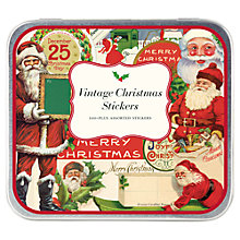 Buy Cavallini Vintage Christmas Stickers Online at johnlewis.com