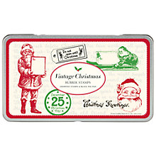 Buy Cavallini Vintage Christmas Large Stamp Set Online at johnlewis.com