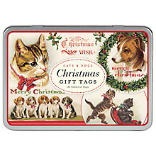 Buy Cavallini Vintage Christmas Tag Tin, Pack of 36 Online at johnlewis.com
