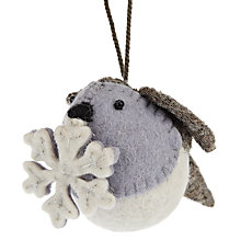 Buy Scandi-chic Robin with Snowflake Decoration, Small Online at johnlewis.com