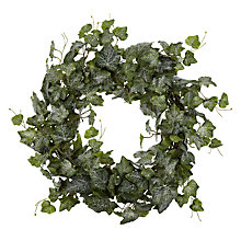 Buy John Lewis Frosted Ivy Wreath, Green Online at johnlewis.com