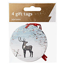 Buy John Lewis Reindeer Tags, Pack of 3, Red Online at johnlewis.com