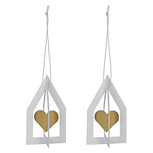 Buy Livingly House with Spinning Heart Decoration, White / Gold Online at johnlewis.com