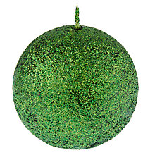 Buy John Lewis Vibrant Vintage Glitter Ball, Green Online at johnlewis.com