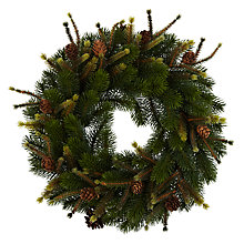 Buy John Lewis Christmas Past Mixed Fir Wreath Online at johnlewis.com