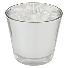 Buy John Lewis Croft Collection Poinsettia Candle, 13cm, Silver Online at johnlewis.com