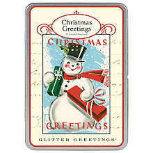 Buy Cavallini Snowman Postcard Tin, Pack of 12 Online at johnlewis.com