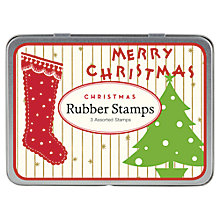 Buy Cavallini Vintage Christmas Stamp Set Online at johnlewis.com