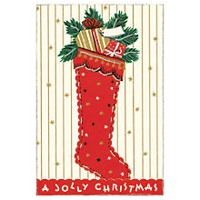Buy Cavallini Jolly Christmas Cards, Box of 10 Online at johnlewis.com