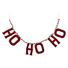 Buy Scandi-chic Hohoho Garland, Red Online at johnlewis.com
