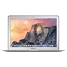 "Buy Apple MacBook Air, MJVE2B/A, Intel Core i5, 128GB Flash Storage, 4GB RAM, 13.3"" Online at johnlewis.com"