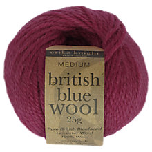 Buy Erika Knight Brit Blue Wool DK Yarn, 25g Online at johnlewis.com