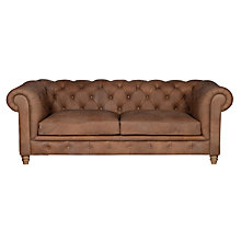 Buy Halo Earle Grand Chesterfield Leather Sofa, Destroyed Raw Online at johnlewis.com