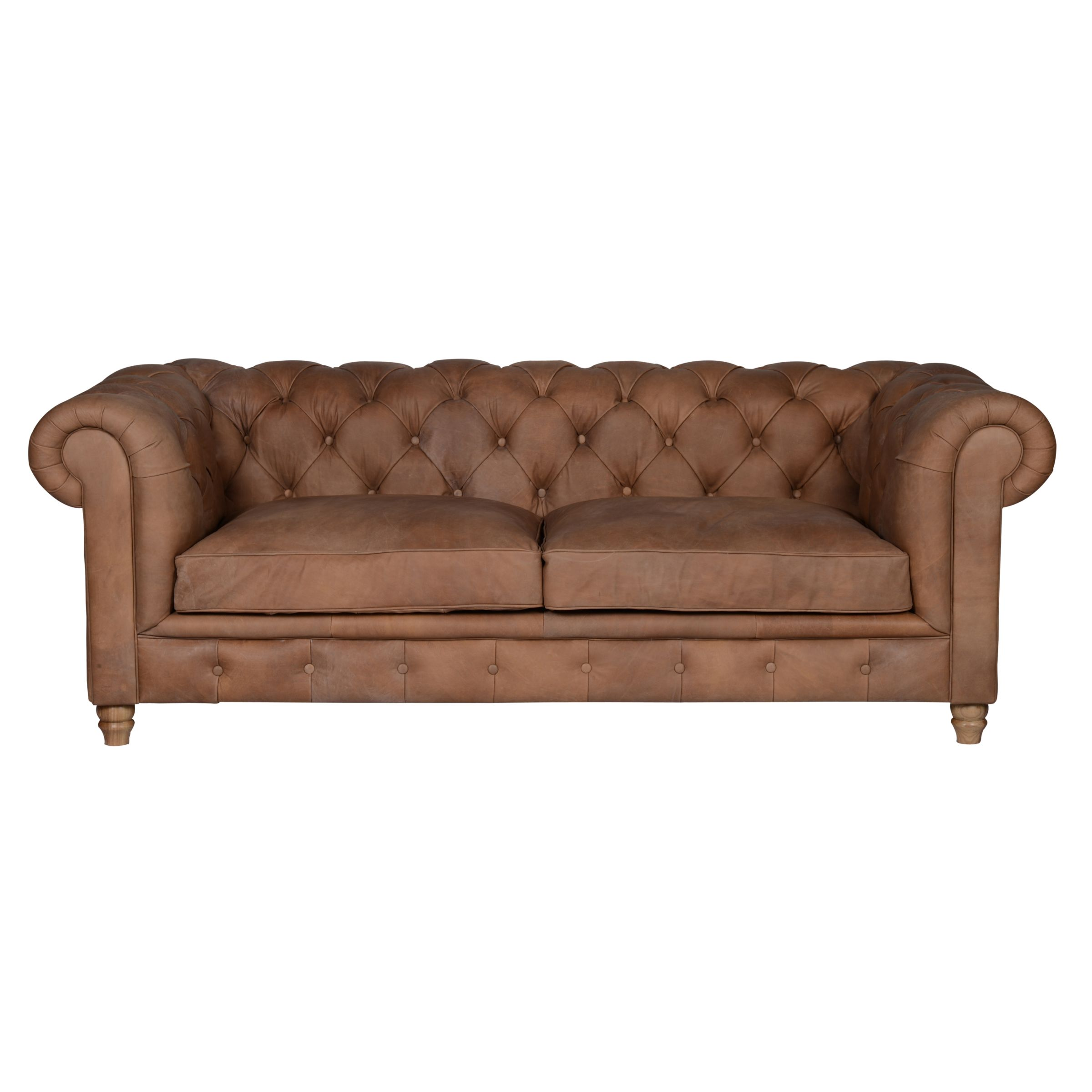 Halo Halo Earle Grand Chesterfield Leather Sofa