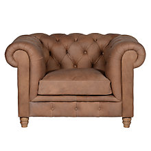 Buy Halo Earle Grand Chesterfield Leather Armchair, Destroyed Raw Online at johnlewis.com
