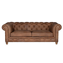 Buy Halo Earle Large Chesterfield Leather Sofa, Destroyed Raw Online at johnlewis.com